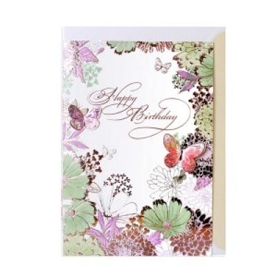 025-SG-0076 / 꽃의 환상 생일카드