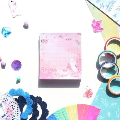 떡메모지 - 돌고래벚꽃