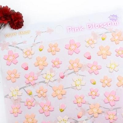 핑크 블라썸 스티커_BIG_DA5435