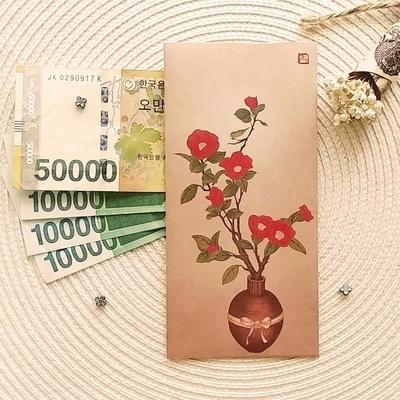 민화 돈봉투 H (동백꽃과 박새) 3EA