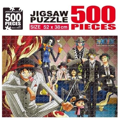 학산문화사 원피스 직소퍼즐 500pcs (루피패밀리)