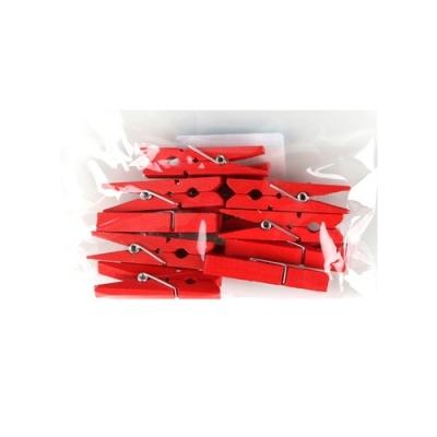유니아트 1200 나무집게 (대) (빨강)
