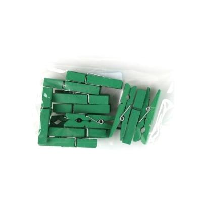 유니아트 1200 나무집게 (대) (초록)