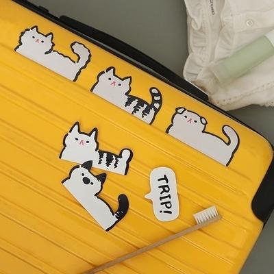 와글와글 우리동네 고양이들 캐리어스티커 12개 set