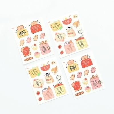 그레이스벨 헬로든든 셀프컷팅 스티커 02.빵