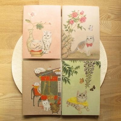 민화 묘한노트+책갈피 4종 패키지