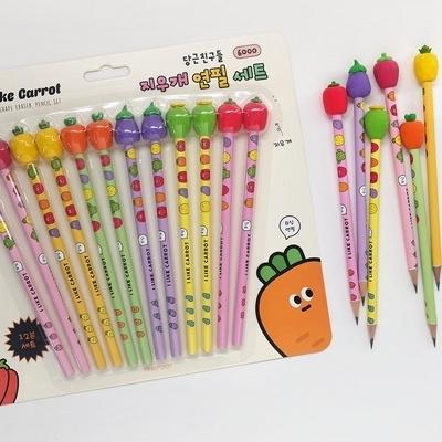 6000 당친 지우개 연필 12본세트