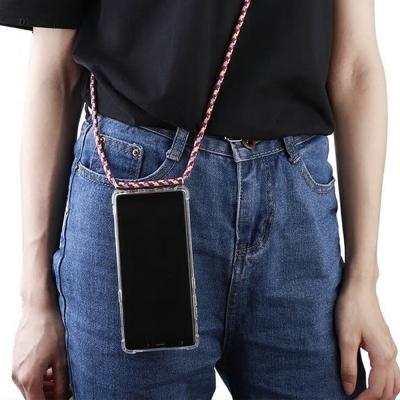 갤럭시노트10(N971) 투명 TPU범퍼 핸드폰 목걸이 크로스 스트랩케이스