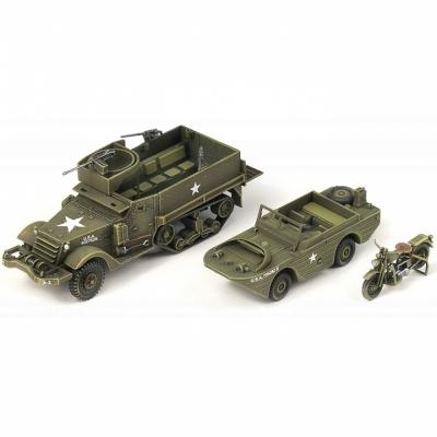 아카데미 1대72 M3 반궤도 장갑차와 4분의1톤 수륙양용 차량 (13408)