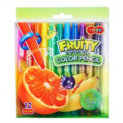 토루 프루티 향기 색연필  12색