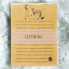 편지지 YL-38 부엉이패턴 레터세트