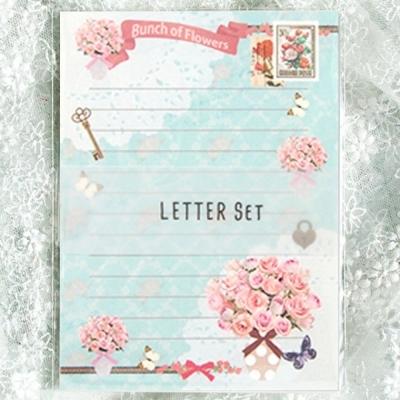 편지지 YL-06 꽃다발 레터세트