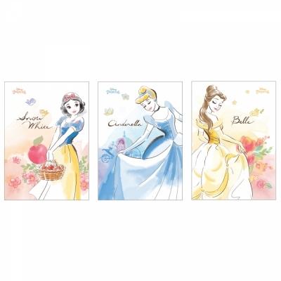 디즈니 프린세스 노트 3종 (각 2권씩) 6권 세트 ( 백설공주 신데렐라 벨 )