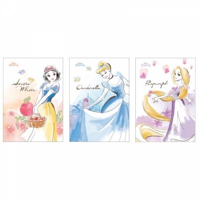 디즈니 프린세스 노트 3종 (각 2권씩) 6권 세트 ( 백설공주 신데렐라 라푼젤 )