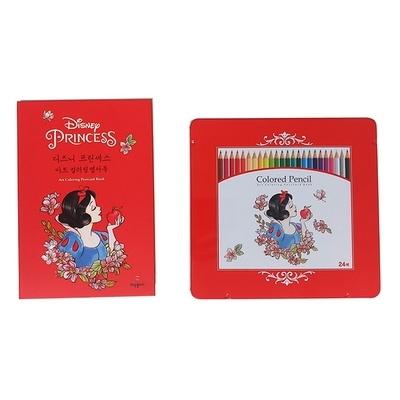 디즈니 백설공주 컬러링 엽서북과 24색 색연필 세트