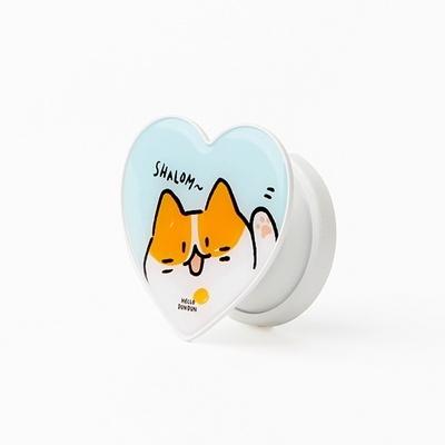 (정품 그립톡)헬로든든 하트 그립톡 02.하트루이스