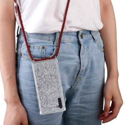 갤럭시노트10플러스(N976) 메탈릭 글리터펄 핸드폰 목걸이 스트랩케이스