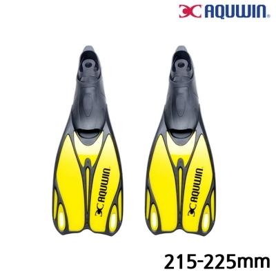 아쿠윈 수영 오리발 파워킥 롱핀 (33.35) (215-225mm) (Yellow) (ASF04)